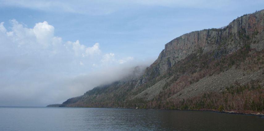 The highest cliffs in Ontario.