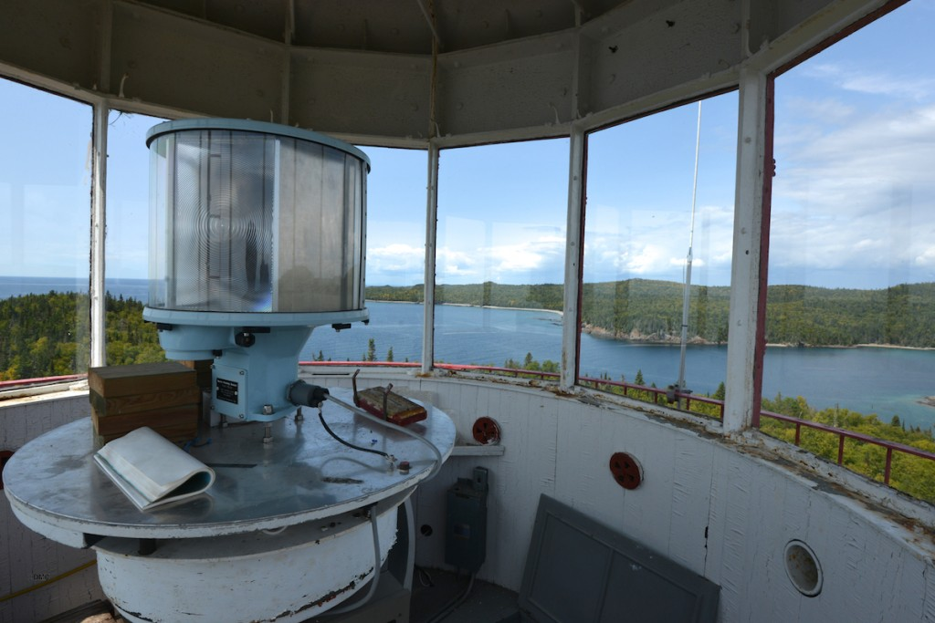 Inside the Patterson Island lighthouse